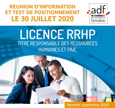 Licence RRHP : réunion et sélection !